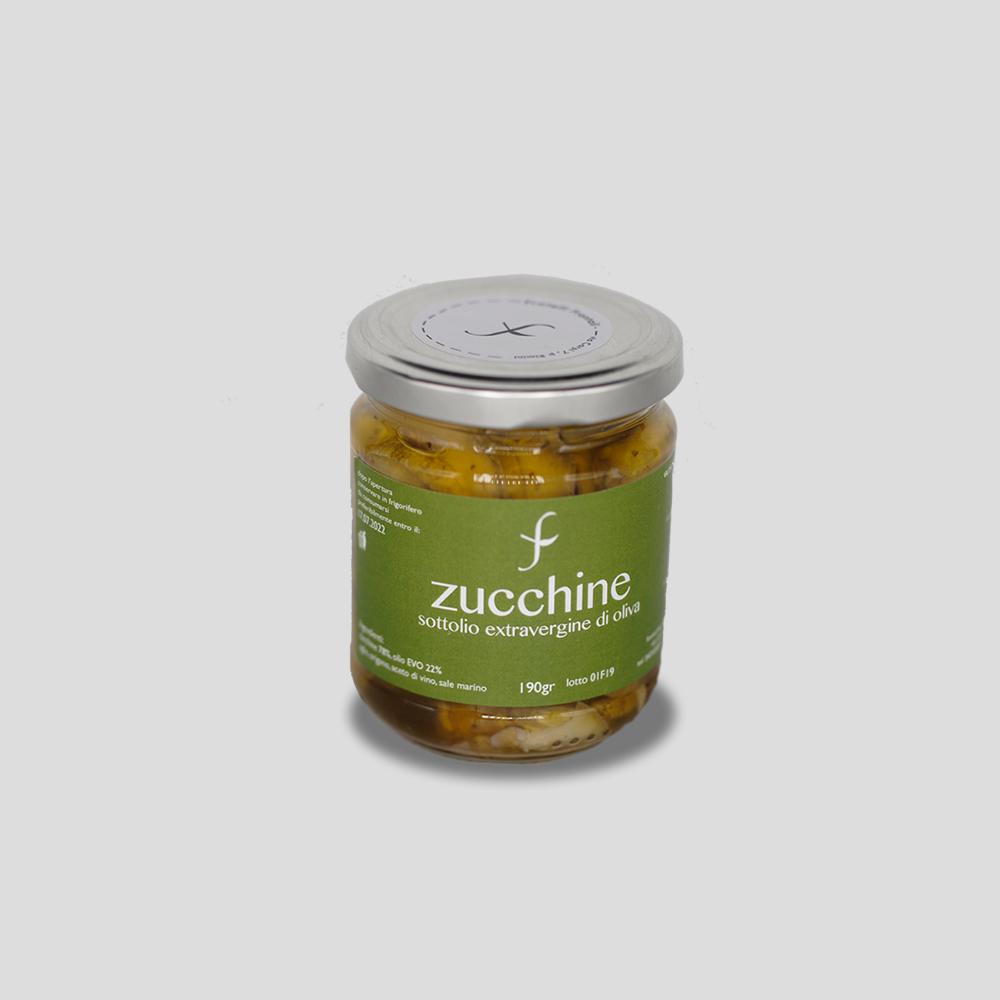 Zucchine Sottolio Extra Vergine Gr 190